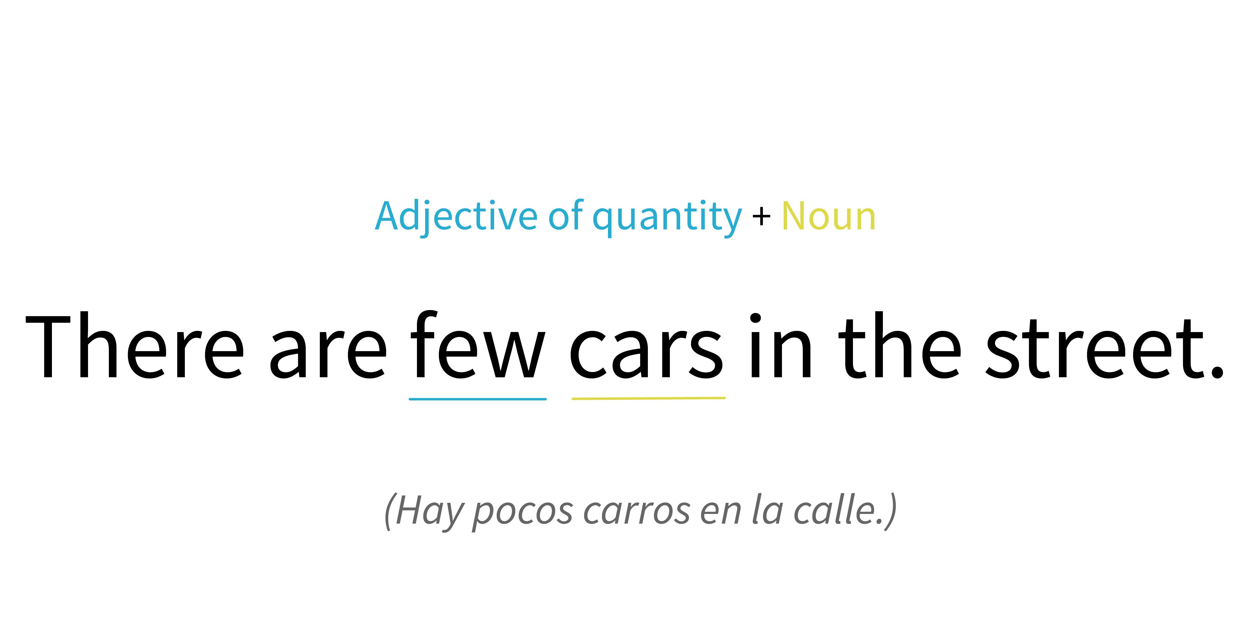Ejemplo de una frase con adjetivo cuantitativo.