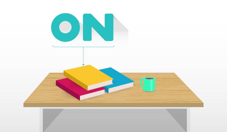 Ilustración ejemplo uso de la preposición On.