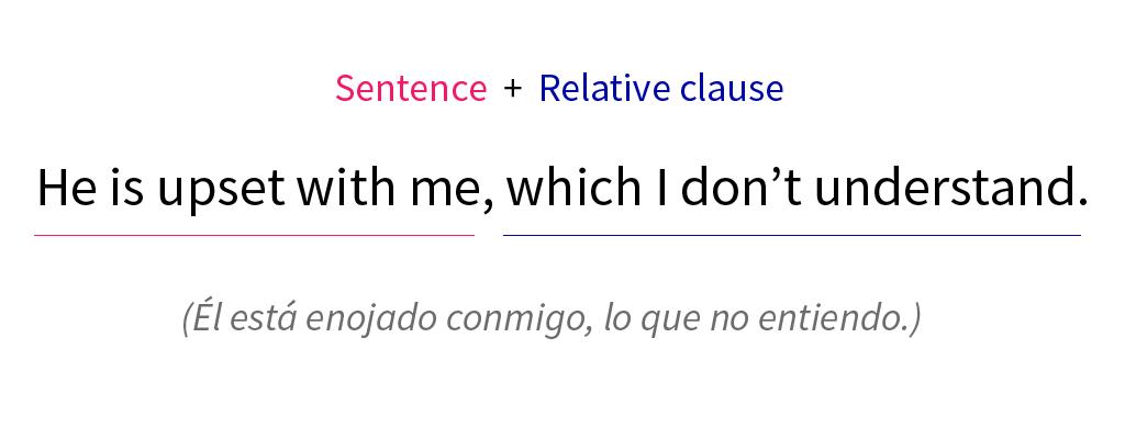 Imagen ejemplo de una relative clause que califica toda la oración que la antecede.