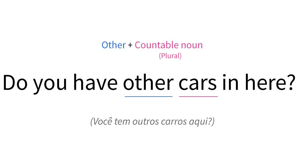 Posição de other numa oração com um substantivo plural contável.