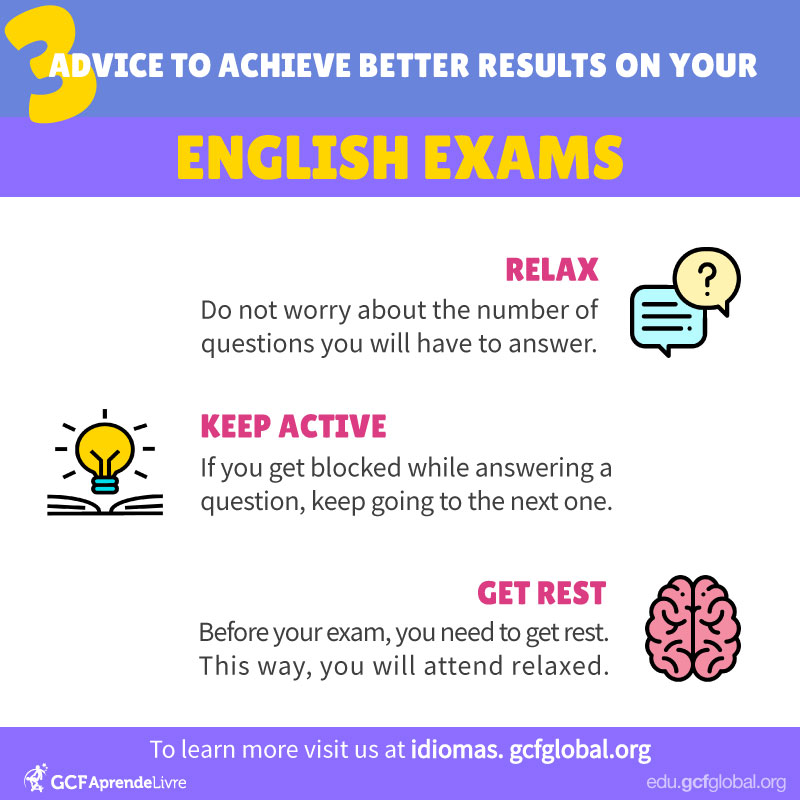 Advice to achieve better results on English exams